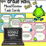 4th Grade Math - Mixed Review Task Cards - Set #1