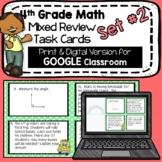 4th Grade Math - Mixed Review Task Cards - Set #2