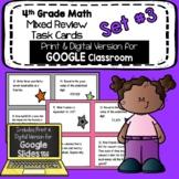 4th Grade Math Mixed Review Task Cards Set #3