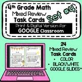 4th Grade Math - Mixed Review Task Cards - Set #4