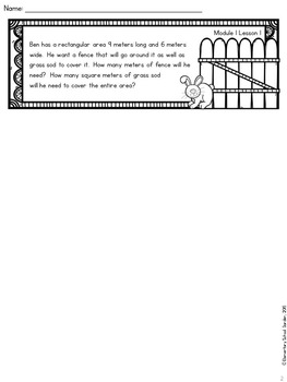 4th Grade Math Module 1 Application Problems - Problem of the Day Journal