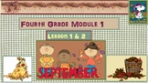4th Grade Math Module 1 Lessons 1-19 PowerPoints Bundled + Review