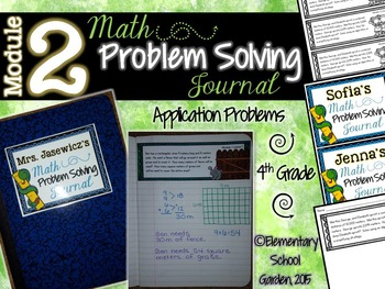 4th Grade Math Module 2 Application Problems - Problem of the Day Journal