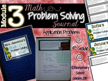 4th Grade Math Module 3 Application Problems - Problem of