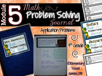 4th Grade Math Module 5 Application Problems - Problem of the Day Journal