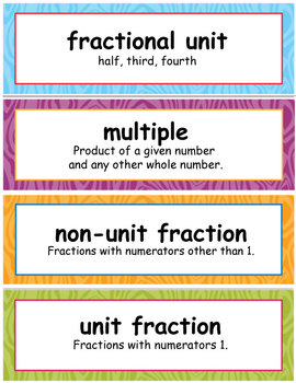 4th Grade Math Module 5, Vocabulary and I Can Statements