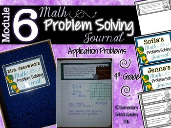4th Grade Math Module 6 Application Problems - Problem of the Day Journal