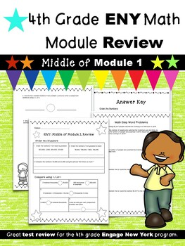 4th Grade Math Module Review (ENY Correlated) MIDDLE of Module 1