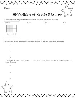 4th Grade Engage New York (ENY) Math Module Review MIDDLE of Module 5