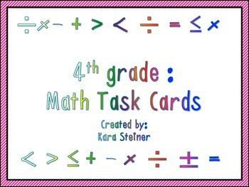 Math Movement Common Core Task Cards (4th Grade)