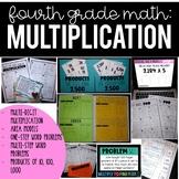 4th Grade Math:  Multi Digit Multiplication