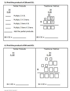 4th Grade Math Multi-Digit Multiplication CCSS 4.NBT.5