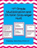 4th Grade Math Multiplication and Division Scavenger Hunt