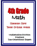 4th Grade Math - Multiplication/Division, Fractions, 2-D Shapes, Symmetry