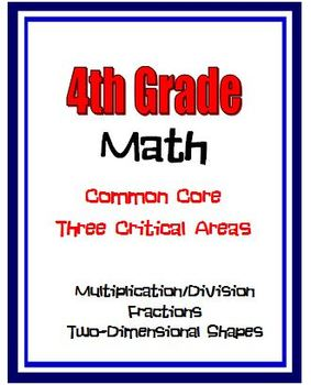 4th Grade Math - Multiplication/Division, Fractions, 2-D S
