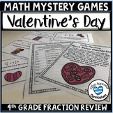 4th Grade Valentine Math Mystery Fraction Game