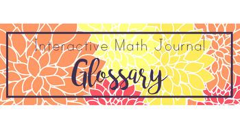 4th Grade Math Notebook Glossary