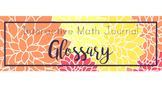 Math Term Glossary for Interactive Notebooks