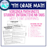4th Grade Math Notebook Learning Target Tabs (VA)