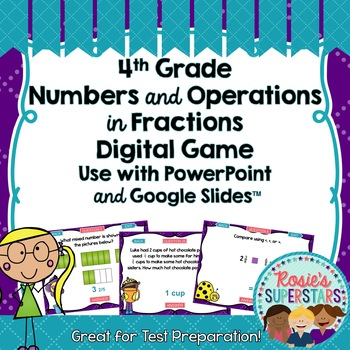 4th Grade Math Numbers and Operations-Fractions Test Prep