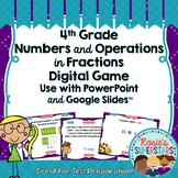 4th Grade Math Numbers and Operations in Fractions Test Prep Digital Game