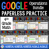 4th Grade Math Review {4.NBT.4-4.NBT.6} Google Classroom D