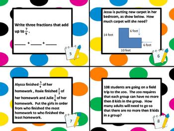 4th Grade Math PARCC Practice bundle