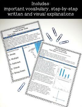 4th Grade Math Parent Study Guides Bundle- ENTIRE YEAR !
