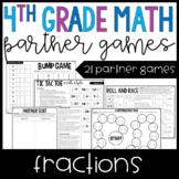 4th Grade Math Partner Games   Fraction Games