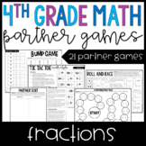 4th Grade Math Partner Games | Fraction Games