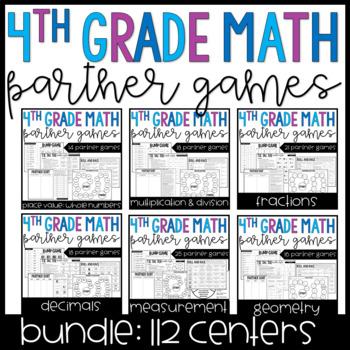 4th Grade Math Partner Games | GROWING Bundle