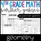 4th Grade Math Partner Games   Geometry Partner Games and Centers