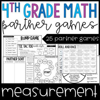 4th Grade Math Partner Games | Measurement Partner Games