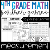 4th Grade Math Partner Games | Measurement Partner Games