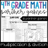 4th Grade Math Partner Games | Multi-Digit Multiplication and Division