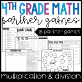 4th Grade Math Partner Games | Multi-Digit Multiplication and Division