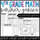 4th Grade Math Partner Games   Whole Number Place Value