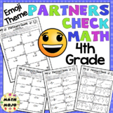 4th Grade Math: Emoji Theme Partners Check