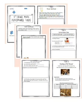 4th Grade Math Performance Tasks SBAC V 1&2 Bundle
