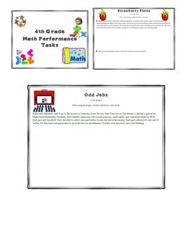 4th Grade Math Performance Tasks SBAC v2