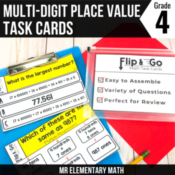 Place Value Task Cards 4th Grade Math Centers