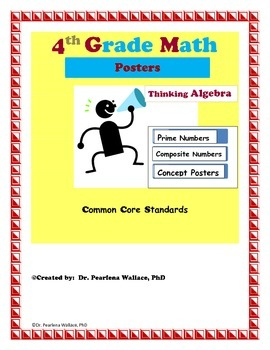 Charts:  Algebraic Thinking Prime & Composite Numbers CCSS