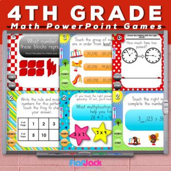 4th Grade Math PowerPoint Games MEGA Bundle