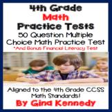 4th Grade Math Test, Practice Test-Prep, Plus a Bonus Financial Literacy Test