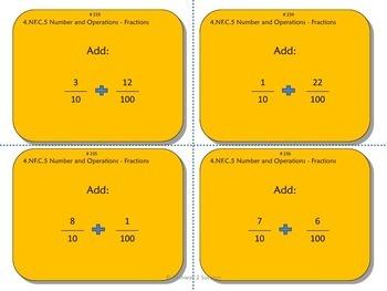 4th Grade Math Task Cards