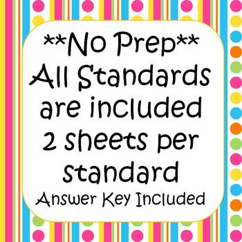 4th Grade Math Printables & Assessments CCSS (Includes ALL Standards)