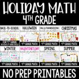 4th Grade Math Worksheets | Holiday and Seasonal Math for Fourth Grade