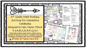 4th Grade Math Problem Solving for Interactive Notebooks