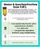 4th Grade Math Proficiency Grading Scales- Number & Operations-Fractions
