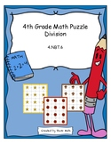 4th Grade Math Puzzle - Division (4 by 1 digit).